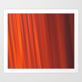 Red & Orange Sunset Stripes Art Print