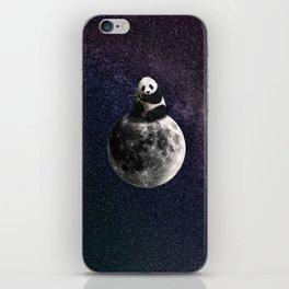 panda on the moon. iPhone Skin