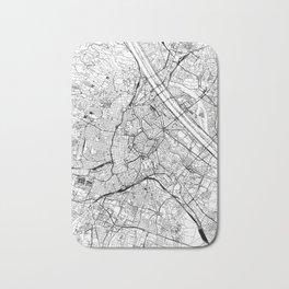 Vienna White Map Bath Mat