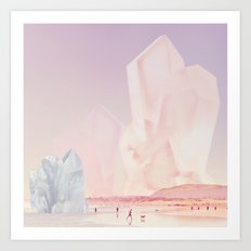 Crystal Beach Art Print