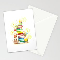 reading book time Stationery Cards