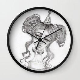 Original Graphite Illustration by Jenny Manno Wall Clock