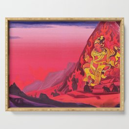 Nicholas Roerich - Command Of Rigden Djapo - Digital Remastered Edition Serving Tray