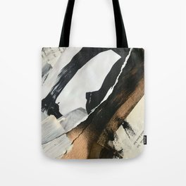 Stay | Collage Series 2 | mixed-media piece in gold, black and white + book pages Tote Bag
