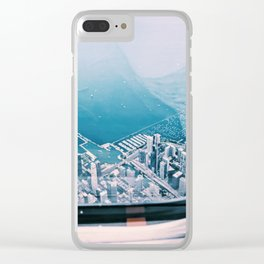 'Sky High' above Chicago Clear iPhone Case