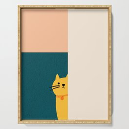 Little_Cat_Cute_Minimalism Serving Tray