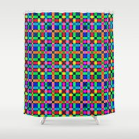 labyrinth Shower Curtains featuring Labyrinth Pattern by Peter Gross