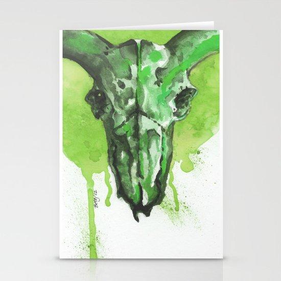 GreenMoonSkull Stationery Cards