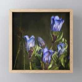 Blue and Purple Wildflowers Framed Mini Art Print