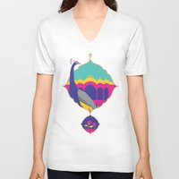 india V-neck T-shirts featuring India by Kapil Bhagat