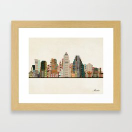 austin skyline Framed Art Print