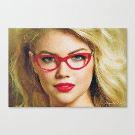A beautiful top model Canvas Print