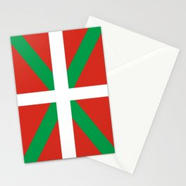 Flag of Euskal Herria-Basque,Pays basque,Vasconia,pais vasco,Bayonne,Dax,Navarre,Bilbao,Pelote,spain Stationery Cards