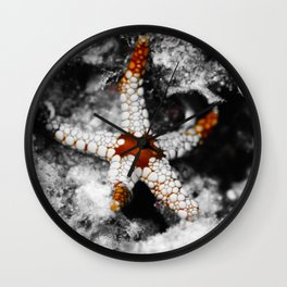 Laid-back starfish Wall Clock