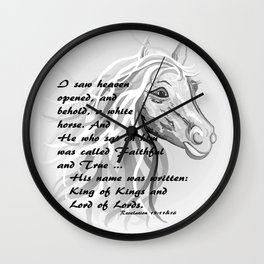 White Horse of a King Wall Clock
