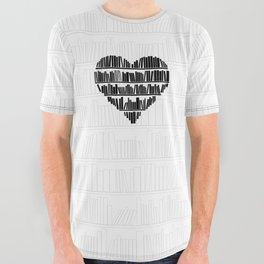 Book Lover II All Over Graphic Tee