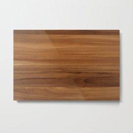 Wooden decor furniture patter Metal Print