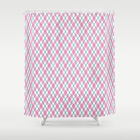 sassy Shower Curtains featuring Sassy Lines by Jennifer Agu