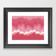 Summer Sweets: Strawberries and Cream Galaxy Framed Art Print