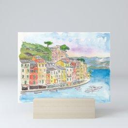 Portofino Ligure Dream Seafront View Mini Art Print