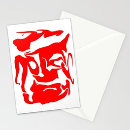 face3 red Stationery Cards