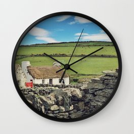 Thatched cottage, Ireland Wall Clock