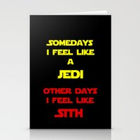 sith Stationery Cards featuring Feel Like Sith by Kramcox