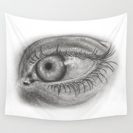 Pencil Eye Wall Tapestry