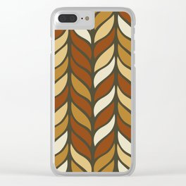 Boho Chic Retro Weave Clear iPhone Case