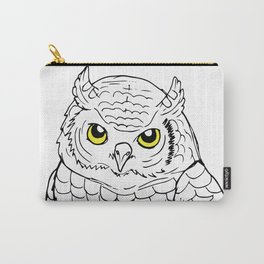 Cute Owl by Ines Zgonc Carry-All Pouch
