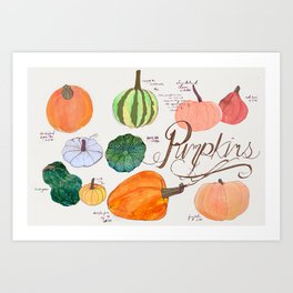 Fresher than the Farmers Market: Pumpkins Art Print