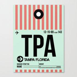 TPA Tampa Luggage Tag 1 Canvas Print