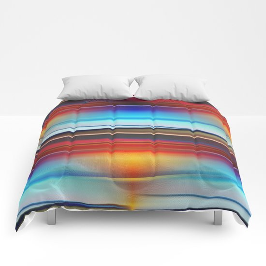 Stripes colorful and shiny Comforters