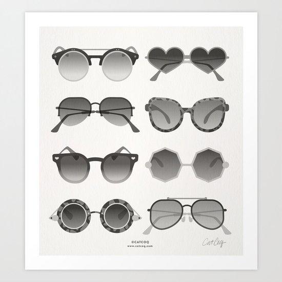 Sunglasses Collection – Black Palette Art Print