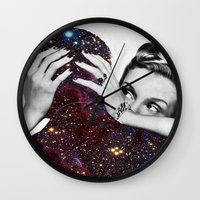 eugenia loli Wall Clocks featuring Dependable Relationship by Eugenia Loli