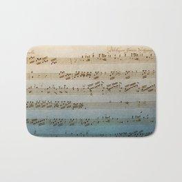 Handwritten Mozart Bath Mat