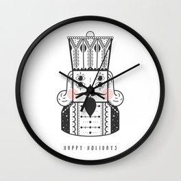 happy holidays. Wall Clock