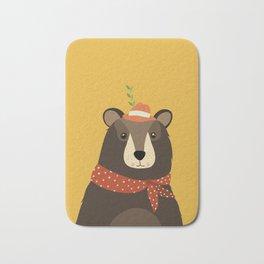 Brown Bear Print, Bath Mat
