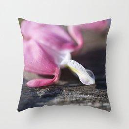 Pink Bleeding Heart Flower 1 Throw Pillow