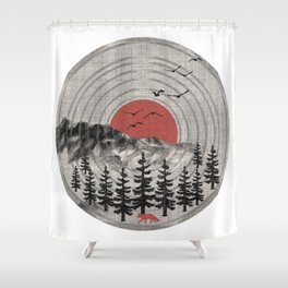 Vinyl Nature Tunes Shower Curtain