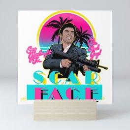 Scarface Miami Vice Mashup Mini Art Print
