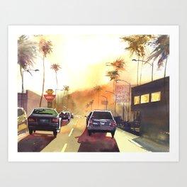sunny town Art Print