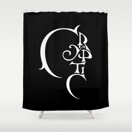 Cryptic Shower Curtain