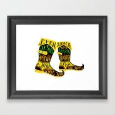 Walking Spanish Framed Art Print