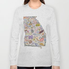 Georgia Music Map Long Sleeve T-shirt