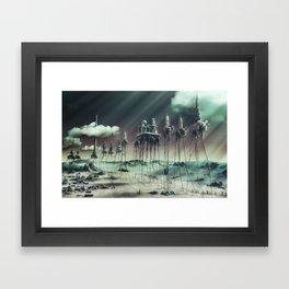 -Caravan Dali- GREEN Framed Art Print