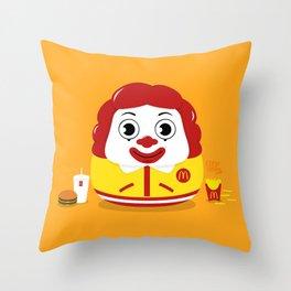 Ronald Daruma Throw Pillow