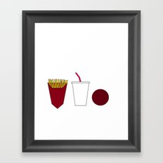 Aqua teen hunger force minimalist  Framed Art Print