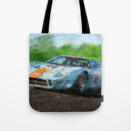 Ford GT 40, Gulf Tote Bag