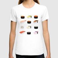 sushi T-shirts featuring Sushi! by Sara Showalter